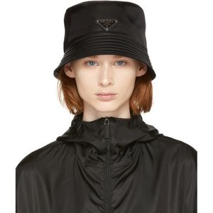 black prada bucket hat